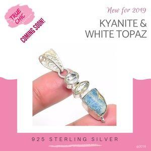 Jewelry - Kyanite&  White Topaz Pendant